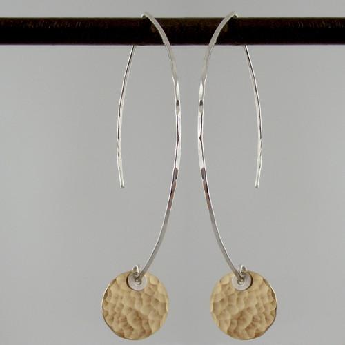 ARC disquette 2 pebble GF - earrings