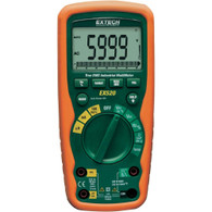 EX520 11 Function Heavy Duty True RMS Industrial MultiMeter with NIST