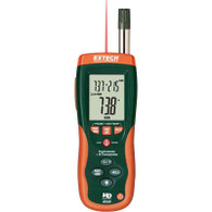 EXTECH HD500 Psychrometer with InfraRed Thermometer with limited NIST