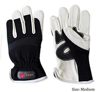 White Goat Leather Protective Gloves