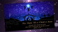 Religious Christmas Video Card (Standard Branded)