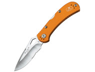 Buck Spitfire - Partially Serrated - Orange