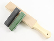 DLT Standard Double Sided Leather Paddle Strop Sharpening Kit