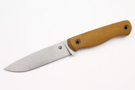Koster Bushmaster 3V - Natural Canvas Micarta - Bead Blasted