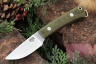 Mini Fox River A2 Green Canvas Micarta