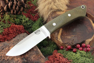 Classic Drop Point Hunter Elmax Green Canvas Micarta
