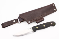 LT Wright GNS Scandi Black Canvas Micarta - Matte