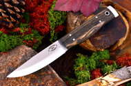 AKC Forest Knife Black & White Ebony