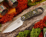 Blackjack Necker 155 Neck Knife Green Black Tortoise Acrylic