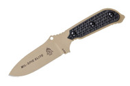 TOPS Mil-Spie Elite - Black Linen Micarta