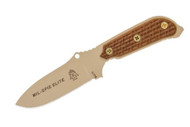 TOPS Mil-Spie Elite - Tan Canvas Micarta