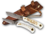 Knives of Alaska Alpha Wolf S30V / Cub Bear Combo - Stag