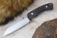 Zoe Crist Fire Creek Black Canvas Micarta - Matte