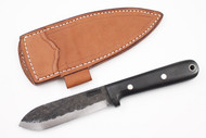 Lon Humphrey Brute de Forge Kephart Black Canvas Micarta - Scandi Ground #16