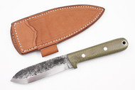 Lon Humphrey Brute de Forge Kephart Green Canvas Micarta - Scandi Ground #61