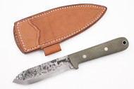 Lon Humphrey Brute de Forge Kephart Green Canvas Micarta - Scandi Ground #67