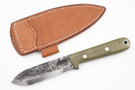 Lon Humphrey Brute de Forge Kephart Green Canvas Micarta - Scandi Ground #68