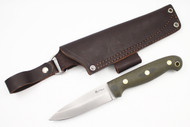 LT Wright GNS Saber Green Canvas Micarta - Matte