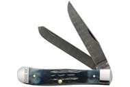 Case Trapper Mediterranean Blue - Damascus Blade
