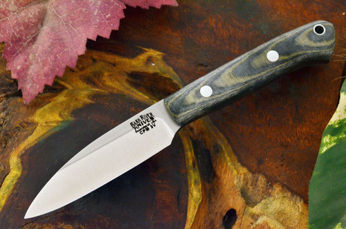 Bark River Little Carver 3V Black & Green Linen Micarta - Matte
