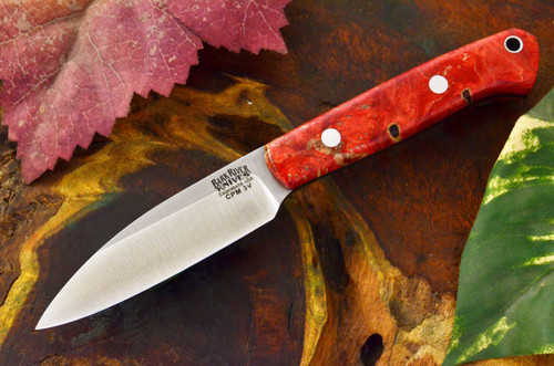 Bark River Little Carver 3V Red & Gold Elder Burl