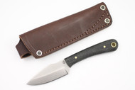 LT Wright Great Plainsman Saber Black Canvas Micarta - Matte