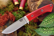 Bark River Classic Drop Point Hunter 3V Red C-Tek - White Liners - Hollow Pins