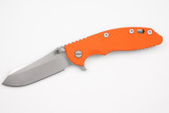 "Hinderer 3.5"" XM-18 Skinner - Limited Two Tone Blade - Blaze Orange G-10 - Working Finish"