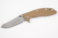 "Hinderer 3.5"" XM-18 Skinner - Limited Two Tone Blade - Coyote G-10 - Working Finish - Bronze Clip & Filler"
