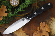 Bark River Lil' Canadian 3V LT Black Canvas Micarta
