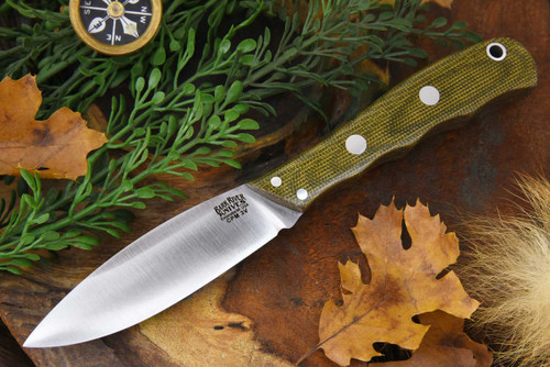 Bark River Lil' Canadian 3V LT Green Canvas Micarta