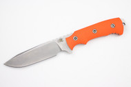 "Hinderer Fieldtac 5.5""- Blaze Orange G-10 -  FDE Kydex Sheath"