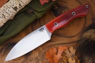 Bark River Bush Saex Red C-Tek - White Liners - Hollow Pins