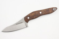 True Saber N2 20CV Neck Knife - Stabalized Buckeye Burl #1