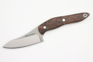 True Saber N2 20CV Neck Knife - Stabalized Maple Burl - Dark