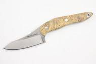 True Saber N2 20CV Neck Knife - Stabalized Box Elder Burl