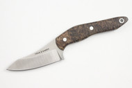 True Saber N2 20CV Neck Knife - Stabalized Box Elder Burl - Dark