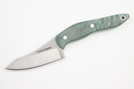 True Saber N2 20CV Neck Knife - Stabalized Maple - Figured Green