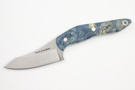 True Saber N2 20CV Neck Knife - Stabalized Blue Buckeye Burl