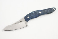 True Saber N2 20CV Neck Knife - Stabalized Blue Maple Burl