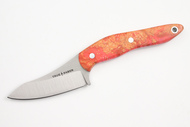 True Saber N2 20CV Neck Knife - Stabalized Vibrant Pink Buckeye Burl #1
