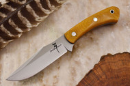 Zoe Crist Peregrine Natural Canvas Micarta - Green Liners
