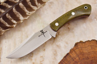 Zoe Crist Peregrine Green Canvas Micarta - Red Liners