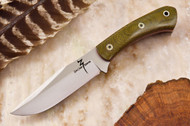 Zoe Crist Peregrine Green Canvas Micarta - Red Liners - Mosaic Pins