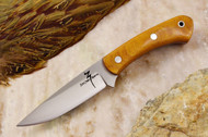 Zoe Crist Kestrel Natural Canvas Micarta - Red Liners