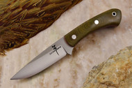 Zoe Crist Kestrel Green Canvas Micarta - Red Liners