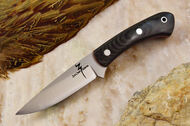 Zoe Crist Kestrel Black Canvas Micarta - Red Liners