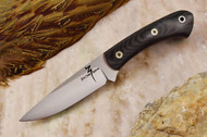 Zoe Crist Kestrel Black Canvas Micarta - Red Liners - Mosaic Pins