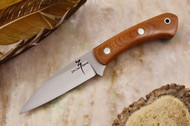 Zoe Crist Goshawk Natural Canvas Micarta - Red Liners
