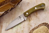 Zoe Crist Goshawk Green Canvas Micarta - Red Liners